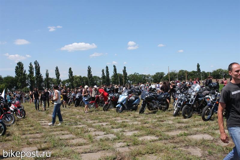Отчёт с мотофестиваля Тачанка 2011 - мотоколонна