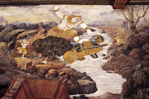 Картины - фрески Рамаяна | Paintings - mural Ramayana
