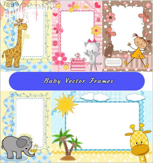 Psd with the giraffe, the elephant (Vector)