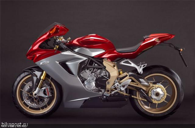 Студийные фотографии мотоцикла MV Agusta F3 Serie Oro 2012