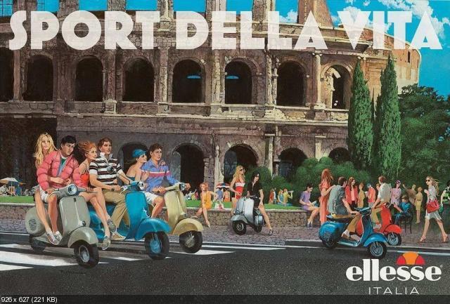 Скутеры на рекламных принтах Ellesse