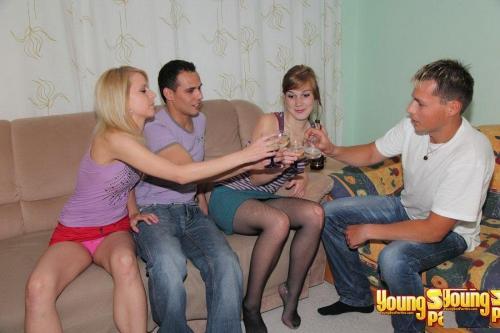 Подростковая вечеринка по пьяни