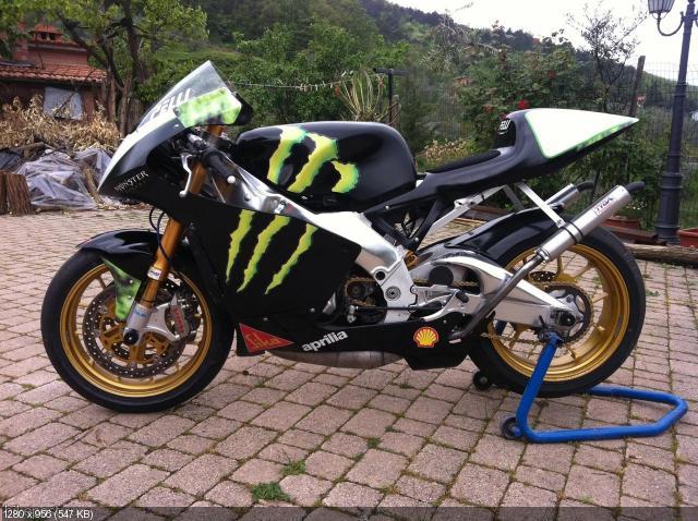 Тюнингованный мотоцикл Aprilia RS250 Monster Energy