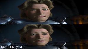 Шрек 2 в 3Д / Shrek 2 3D   Вертикальная анаморфная